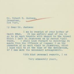 Letter : 1933 March 24