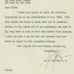 Letter : 1954 April 14