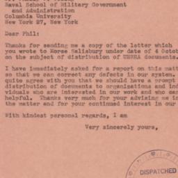 Letter : 1944 October 9