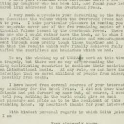 Letter: 1947 March 29