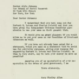 Letter: 1938 October 26