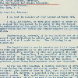 Letter : 1941 March 8