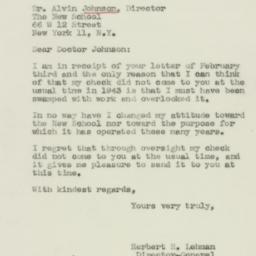 Letter : 1944 February 7