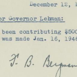 Memorandum : 1946 December 12