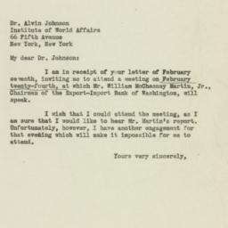 Letter : 1947 February 10