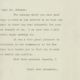 Letter : 1947 May 22