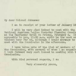 Letter : 1944 January 22