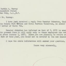 Letter : 1956 March 21