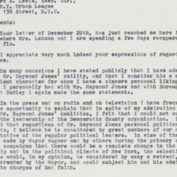 Letter : 1962 January 5