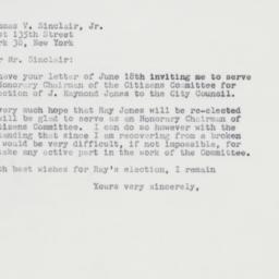 Letter : 1963 June 22