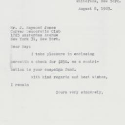 Letter : 1963 August 8
