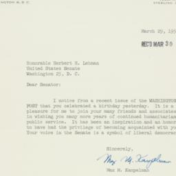 Letter : 1956 March 29