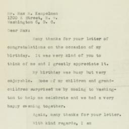 Letter : 1956 April 2