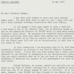 Letter : 1953 May 21