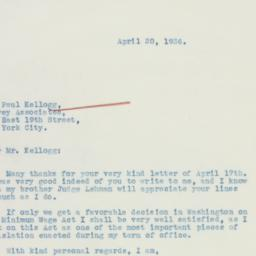 Letter : 1936 April 20