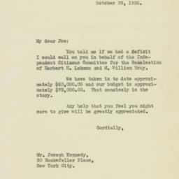 Letter : 1936 October 29