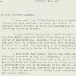 Letter : 1938 February 16