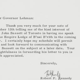 Letter : 1962 October 25