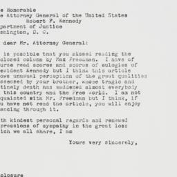 Letter : 1963 December 2