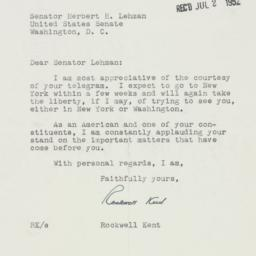Letter: 1952 June 28