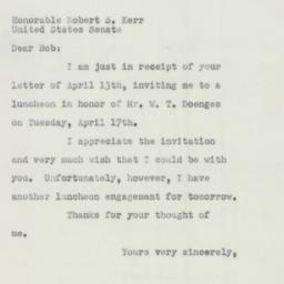 Letter : 1951 April 16