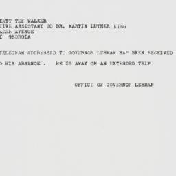 Telegram: 1962 July 31