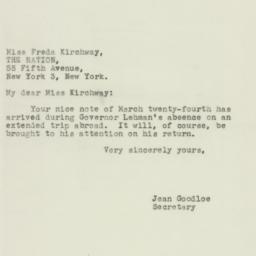 Letter: 1944 March 28