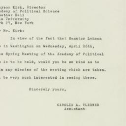 Letter : 1950 April 15