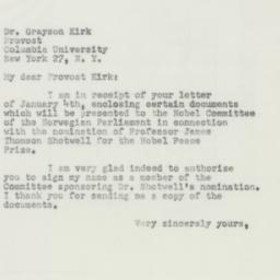 Letter : 1952 January 17