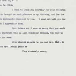 Letter: 1963 April 2