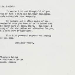 Letter : 1964 January 21