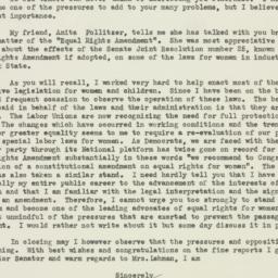 Letter : 1950 January 23