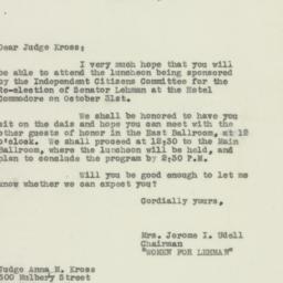 Letter : 1950 October 25
