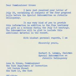 Letter : 1955 July 30