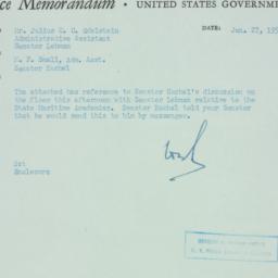Memorandum : 1955 January 27