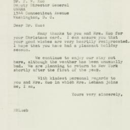 Letter : 1946 December 26
