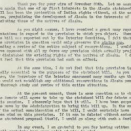 Letter : 1950 December 8