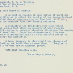 Letter: 1937 April 5