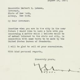 Letter: 1937 August 18