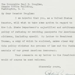 Letter : 1951 October 13