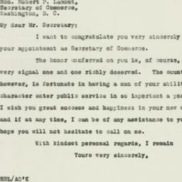Letter : 1929 March 5