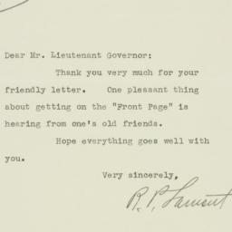 Letter : 1929 March 9