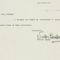 Letter : 1950 May 22