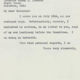 Letter : 1955 July 18