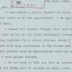 Letter : 1945 June 4