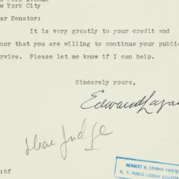 Letter : 1950 September 11