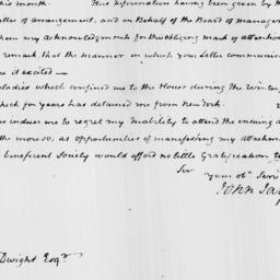 Document, 1821 May 03