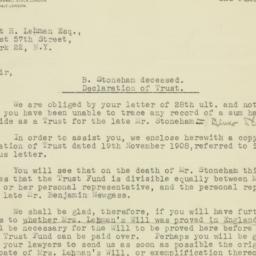Letter : 1947 June 2