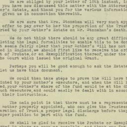 Letter : 1947 July 22
