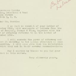 Letter : 1947 September 29